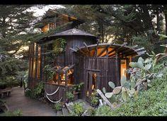 Mike Breen's five-unit, redwood wine-barrel house in Big Sur
