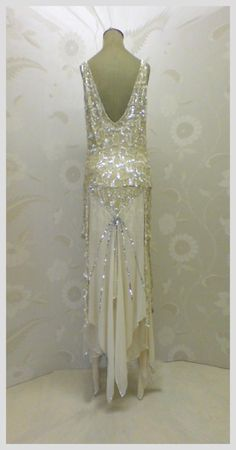 Art deco evening dress (back)