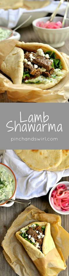 If you've eaten a lamb shawarma from a Mediterranean restaurant, you might think they're too complicated to make at home. I'm here to convince you otherwise! Every component of these pita sandwiches is simple to make and delicious on its own, but combine them and you'll have a spectacularly delicious meal.