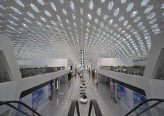 AEROPORTO DE SHENZHEN - CHINA Claraboias hexagonais marcam aeroporto do Studio Fuksas - Arcoweb