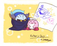AWWWW Kirby that's so sweet of you to do that for Meta Knight! I'm sure he appreciates it