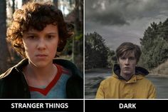 Are they similar yourself? Which one is better?   #dark #darknetflix #strangerthings