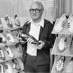 """Aidias founder, Adolf """"Adi"""" Dassler - """"Your first look at Adidas Originals x Spezial (aka sportswear that thinks it's a Savile Row suit) - GQ.co.uk"""""""