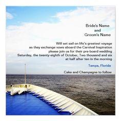 12 Best Cruise Wedding Invitations Images In 2014 Cruise Weddings
