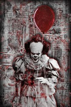 "Pennywise The Clown From ""IT"" Poster, Stephen Kings IT Portrait Gift, – McQDesign"