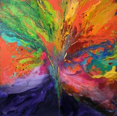 Mystical tree (original size was 90x90cm) Need another size?If you are interested in a similar painting - Commission me.Prints also available. Email me for details: caroline@carolineashwood.co.uk