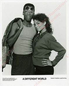 A DIFFERENT WORLD Photo - JASMINE GUY & Kadeem Hardison, 1990 #HBCU #TV #Classics