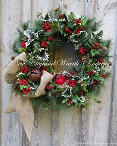 Christmas Wreath Holiday Wreath Designer by NewEnglandWreath