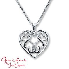 Diamond Heart Necklace 1/15 ct tw Round-cut Sterling Silver SO sad that this is out of stock :(