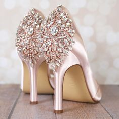 1855bc5c4186 Blush Flash Wedding Shoes with Rose Gold Crystal Heel (Color May Be  Customized) - Ellie Wren