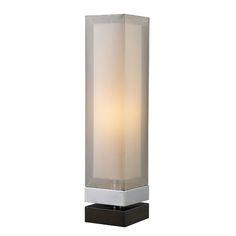 Volant Espresso and Silver Table Lamp