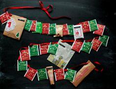 D.I.Y. Adventskalender #DIY #Adventskalender #christmas #gift #tea Diy Advent Calendar, Christmas Time, Diys, Merry, Paper, Inspiration, Wrap Gifts, Present Wrapping, Stocking Stuffers