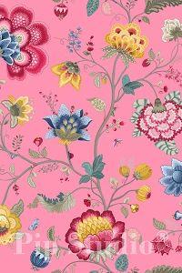 PiP Floral Fantasy Light Pink wallpaper