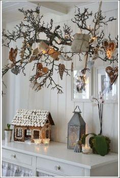 Rami di Natale in stile nordico