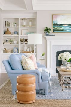 Whether you're drawn to bold walls or prefer to stick to pops of color with cheery textiles, these rooms are bound to inspire you to brighten up some aspect of your living room decor. Cottage Living Rooms, Living Room Sofa, Living Room Decor, Coastal Living, Bohemian Living Rooms, Dining Room, Living Area, Living Room Colors, Living Room Designs