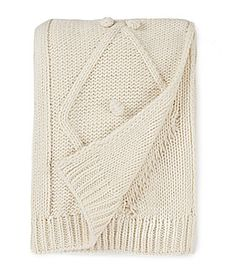 Southern Living Ellason CableKnit Pom Pom Throw #Dillards