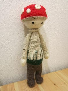 PAUL the toadstool made by Claudia K. / crochet pattern by lalylala