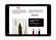Website design by Bedow for furniture business Essem Design