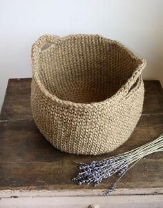 Large Jute Basket With Handles