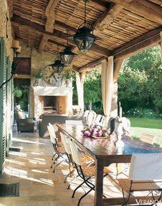 Love this rustic veranda...