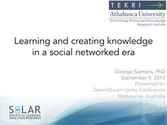 Learning and Creating Knowledge in Social Networks