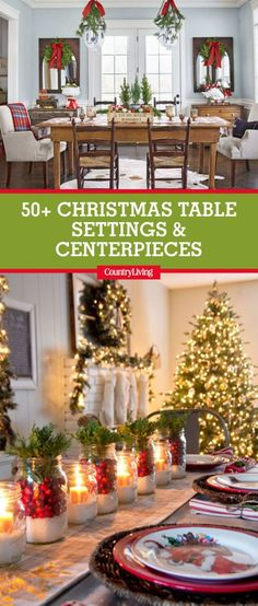 save these stunning christmas table settings by pinning this image and follow country living on