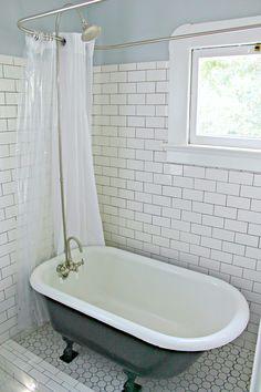 Clawfoot Tub Idea  Floor Drain Under Tub Means No Back Shower Amusing Bathroom With Clawfoot Tub Ideas 2018