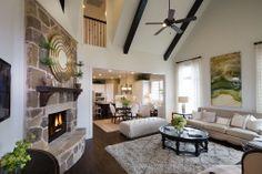Highland Homes | Phillips Creek Ranch | Living Room | Frisco, TX | Plan 598D