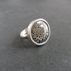 Coral Ring, Handmade Jewellery, Stone Rings, Druzy Ring, Sale Items, Fossil, Bracelet Watch, Silver Rings, Band