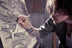 Love him, love his work, love the cause. #brandon boyd, #art, #pendrawing, #ocean
