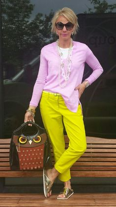 This is My Life with Coffee...: Owl about Color Kate Spade owl bag. Purple and yellow. J Crew