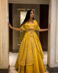 Beautiful Lehenga with Hand Embroidered blouse and dupatta, draped as jacket with waist handcrafts - galon Indian Gowns Dresses, Indian Fashion Dresses, Indian Designer Outfits, Fashion Outfits, Lehenga Choli Designs, Designer Bridal Lehenga, Indian Lehenga, Lehenga Style, Jacket Lehenga