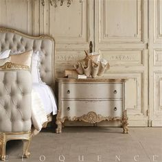 Our curated French country decor and design inspiration images cover the spectrum of French design from refined, provincial style to rustic country cottage. Steel Furniture, French Furniture, Bedroom Furniture, Painted Furniture, Bedroom Decor, Luxury Furniture, Furniture Design, Cottage Furniture, Refurbished Furniture