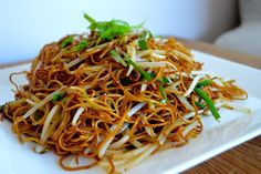 Cantonese soy sauce pan-fried noodles. The sauce can be used for pretty much any teriyaki-ish thing.