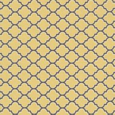 Joel Dewberry - Aviary 2 - Lodge Lattice in Vintage Yellow