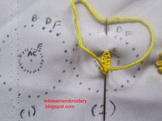 Let's learn embroidery: Double cast-on sunflower1