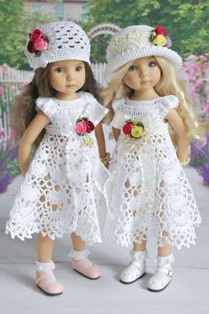 Pattern is for 13 doll but so perffect for easter i couldn t pass it up les cheries in white crochet dresses click above visit link forRésultat d'images pour Printable American Girl Doll Dress PatternsThis Pin was discovered by МарAmerican Doll Crochet Girls Dress Pattern, Crochet Pattern Free, Crochet Doll Dress, Doll Dress Patterns, Crochet Doll Clothes, Knitted Dolls, Girl Doll Clothes, Barbie Clothes, Girl Dolls