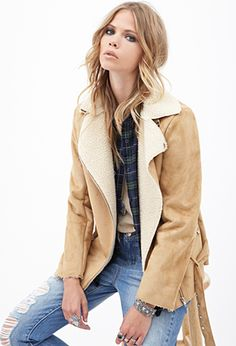 Faux Suede Jacket   FOREVER21 - 2000137581