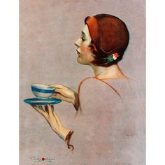 "Marmont Hill - ""Cup of Java"" by Penrhyn Stanlaws Painting Print on Canvas"