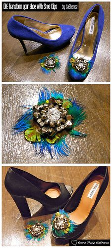 Instant Shoe Makeovers with shoe-clips-diy...