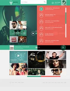 jack music UI concept... behance