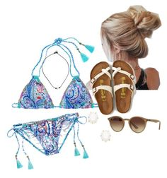 """Swimming w/ Bae"" by brittanyr1204 on Polyvore featuring Victoria's Secret, American Eagle Outfitters, Kendra Scott and Ray-Ban"