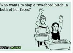 Ecard. Slap a hoe. Two faced