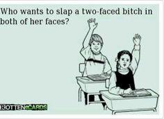 Ecard. Slap a hoe. Two faced