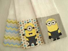 Minions, Baby Kit, Apron, Patches, Towel, Reusable Tote Bags, Quilts, Sewing, John John