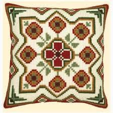 Patterned Cross Stitch Cushion Kits from Sew Essential. Patterned Cross Stitch Cushion Kits available with free delivery on all eligible orders. Modern Cross Stitch, Cross Stitch Kits, Cross Stitch Patterns, Cross Stitching, Cross Stitch Embroidery, Embroidery Patterns, Cross Stitch Cushion, Handmade Cushions, Needlepoint Pillows