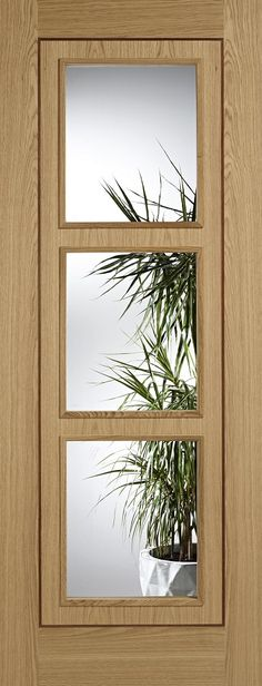 Leeds Doors Inlay 3 Light Glazed 78x33 Oak Door - internal doors - oak - Inlay 3 Light Glazed 78x33 Oak Door - Timber, Tool and Hardware Merchants established in 1933
