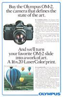Olympus OM-2 Photographer David Deahl 1981 Ad Picture