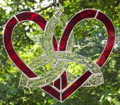 Celtic beautiful stained glass windows Photo | Celtic Stained Glass Mother's Heart Suncatcher by HillLillyDesigns