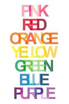 6cf3b53081 Items similar to Rainbow Colors Art Print - 11 x 17 Poster on Etsy